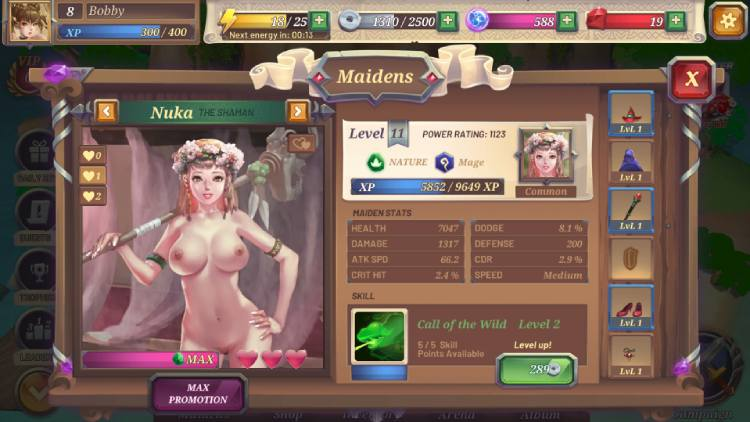 Crystal Maidens test